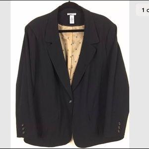 Catherine's plus size 3X Black blazer